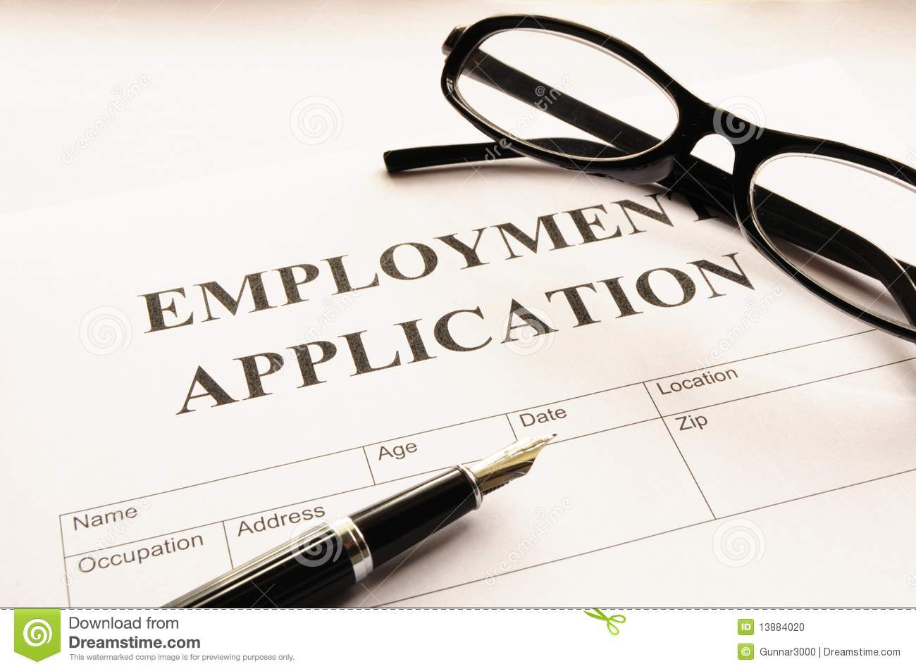Employment application stock photo. Image of business - 13884020