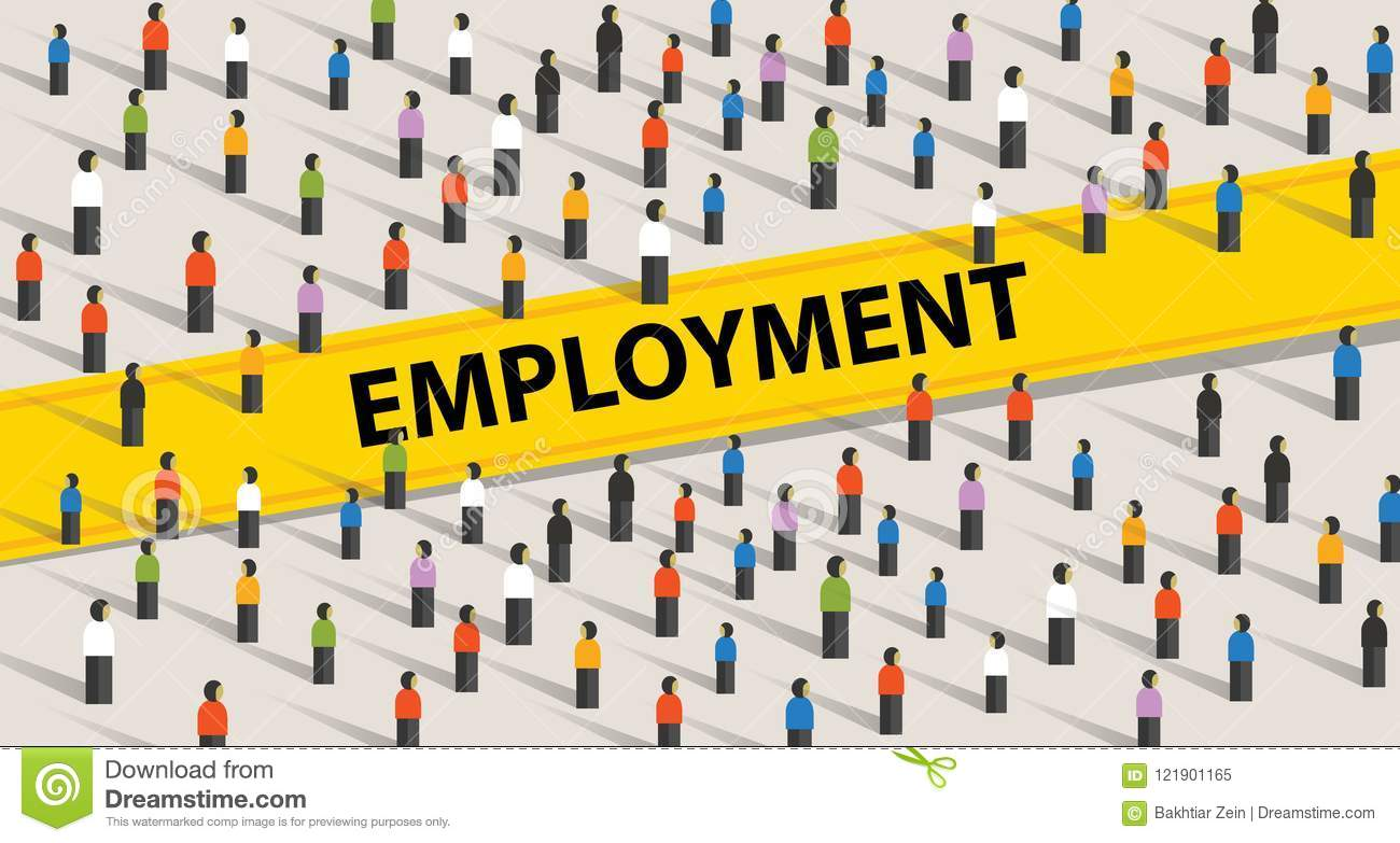 Employment concept. Crowd of people, individuality and diversity concept