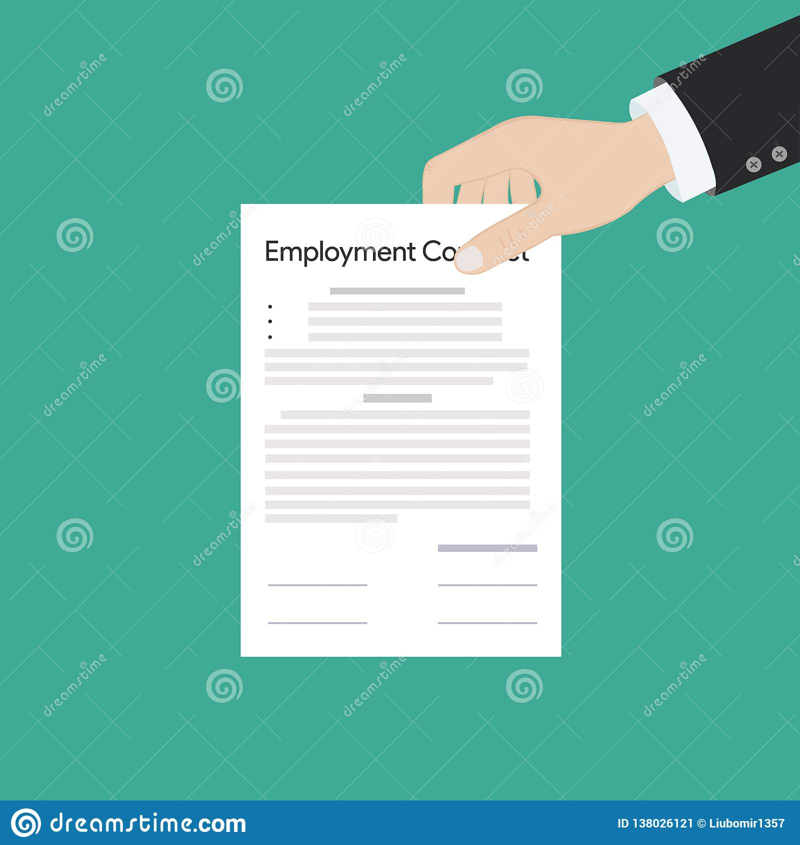 Employment contract paper document