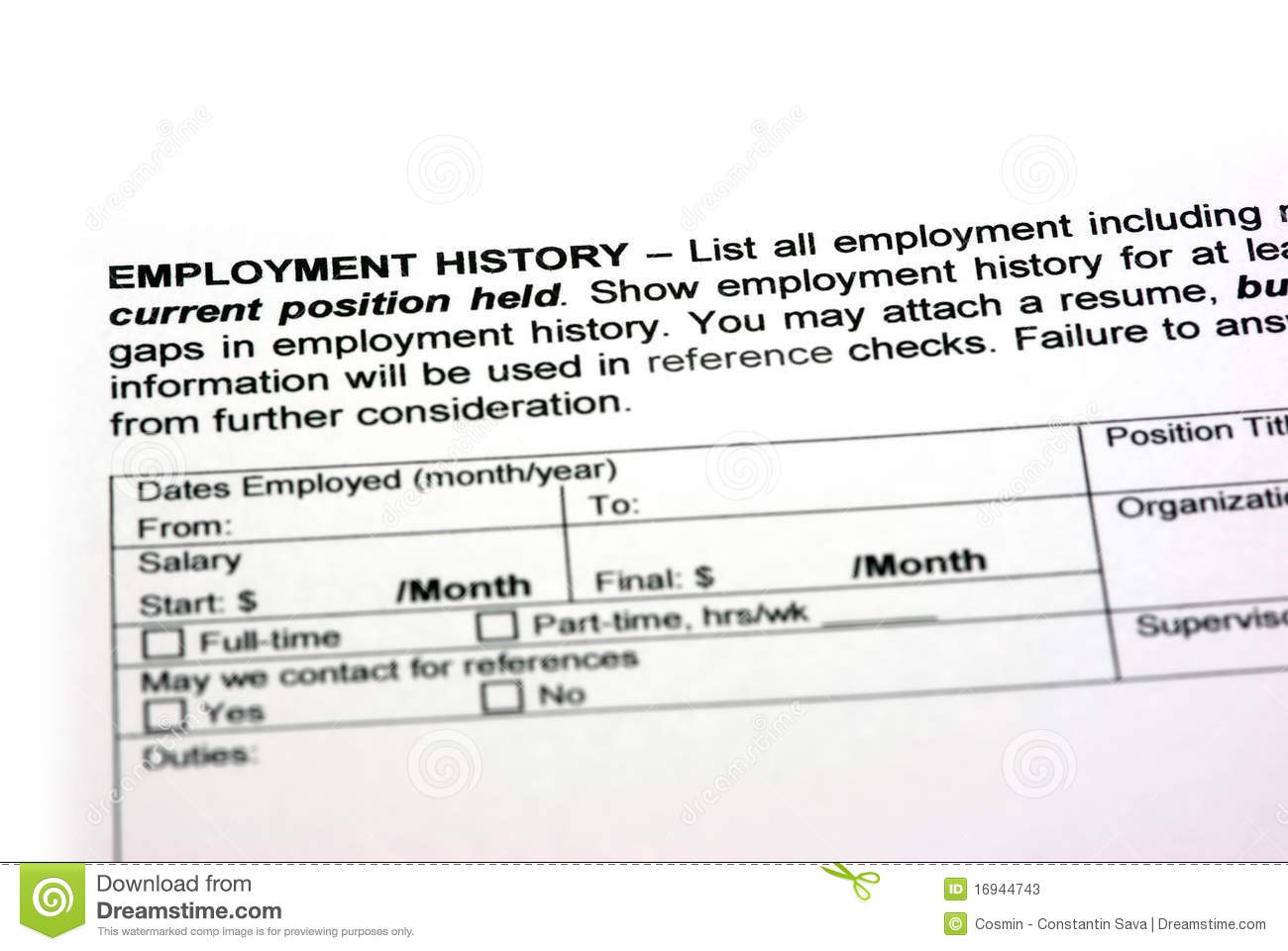 employment history stock photos image 16944743 employment history