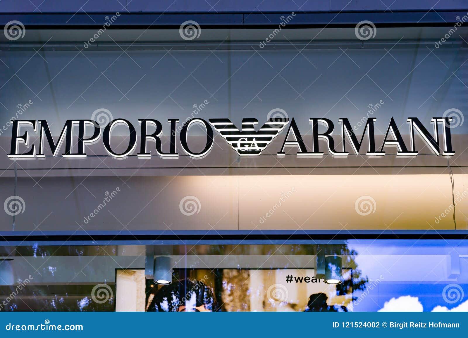 EMPORIO ARMANI Logo editorial photography. Image of shop - 121524002 f2f1aacf31931