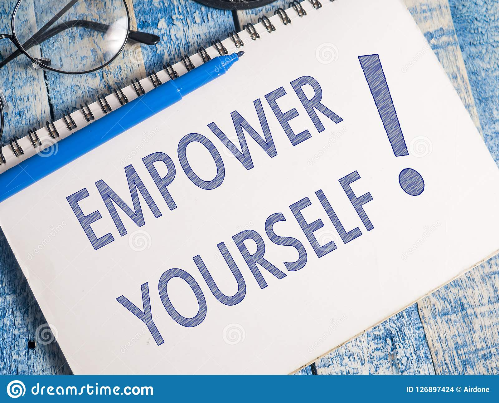 Empower Yourself Motivational Business Words Quotes Concept Stock