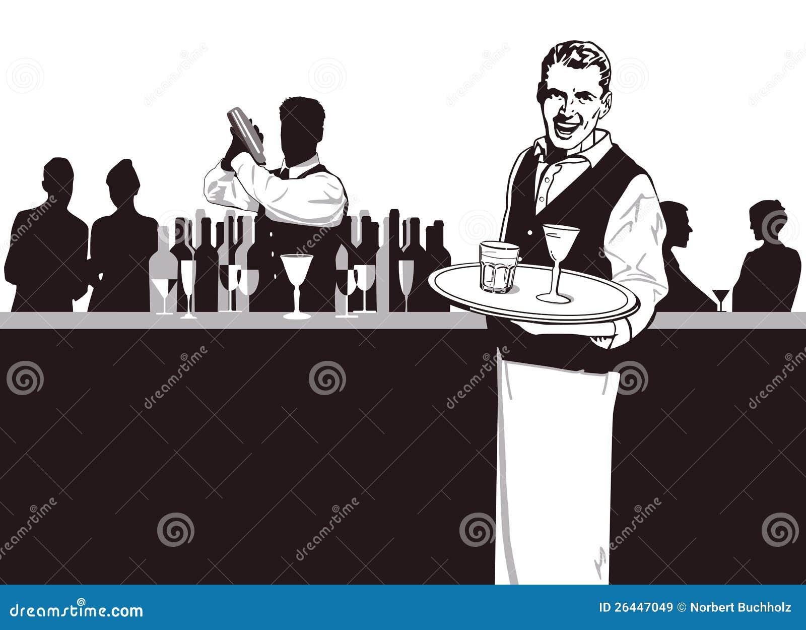 Empregado de mesa e bárman