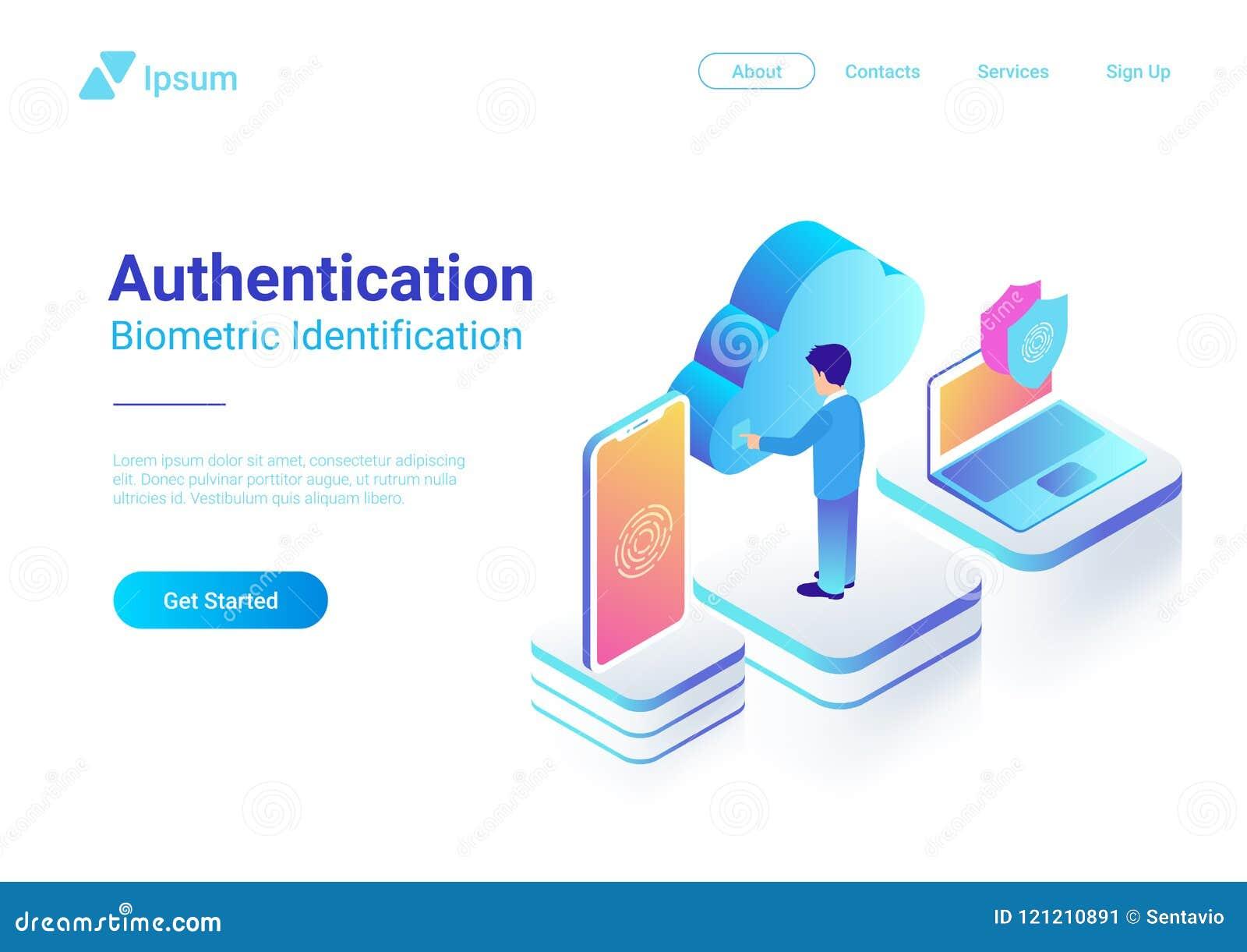 Empreinte digitale biométrique ide d authentification isométrique