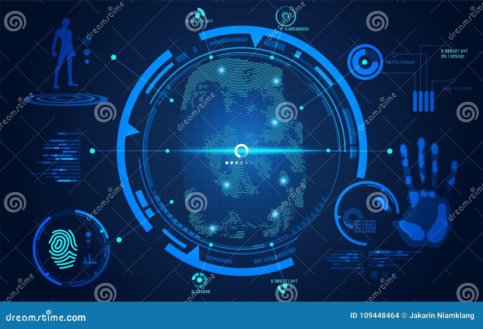Empreinte digitale technologique abstraite