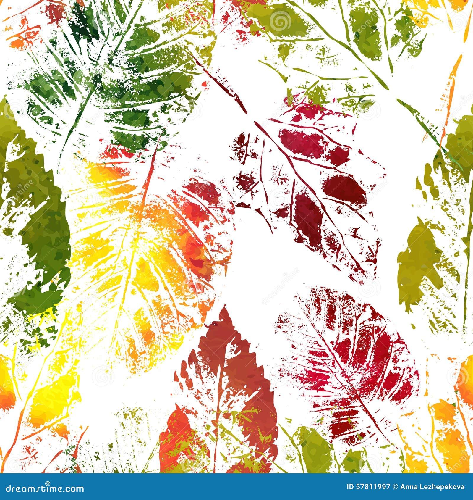 Empreintes color es de feuilles d 39 automne illustration de - Image feuille automne ...