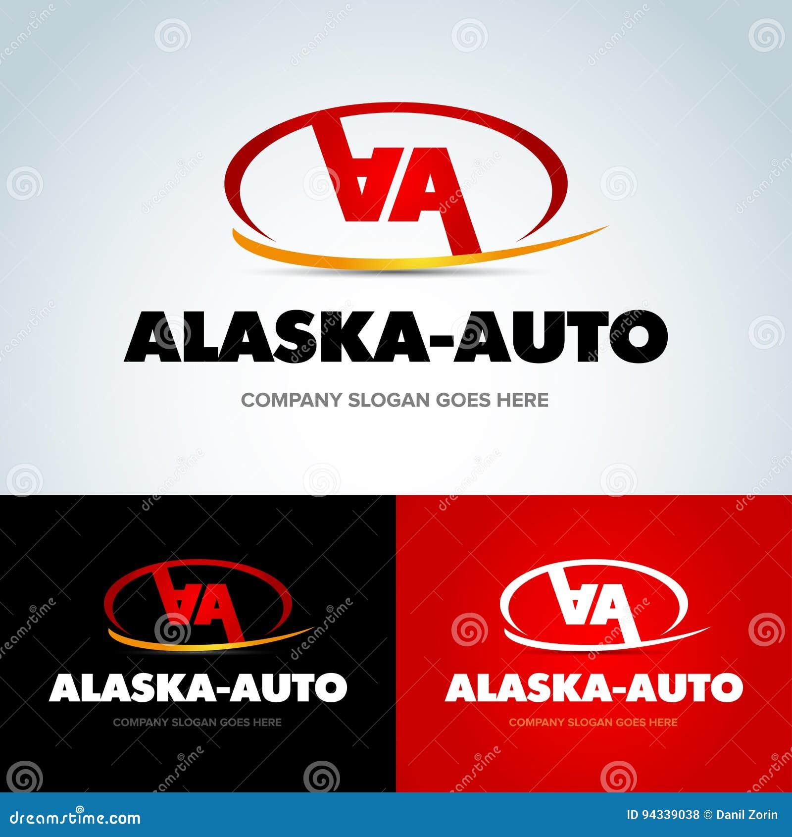 Empresa De Automóviles Logo Vector Design Concept Plantilla Doble ...