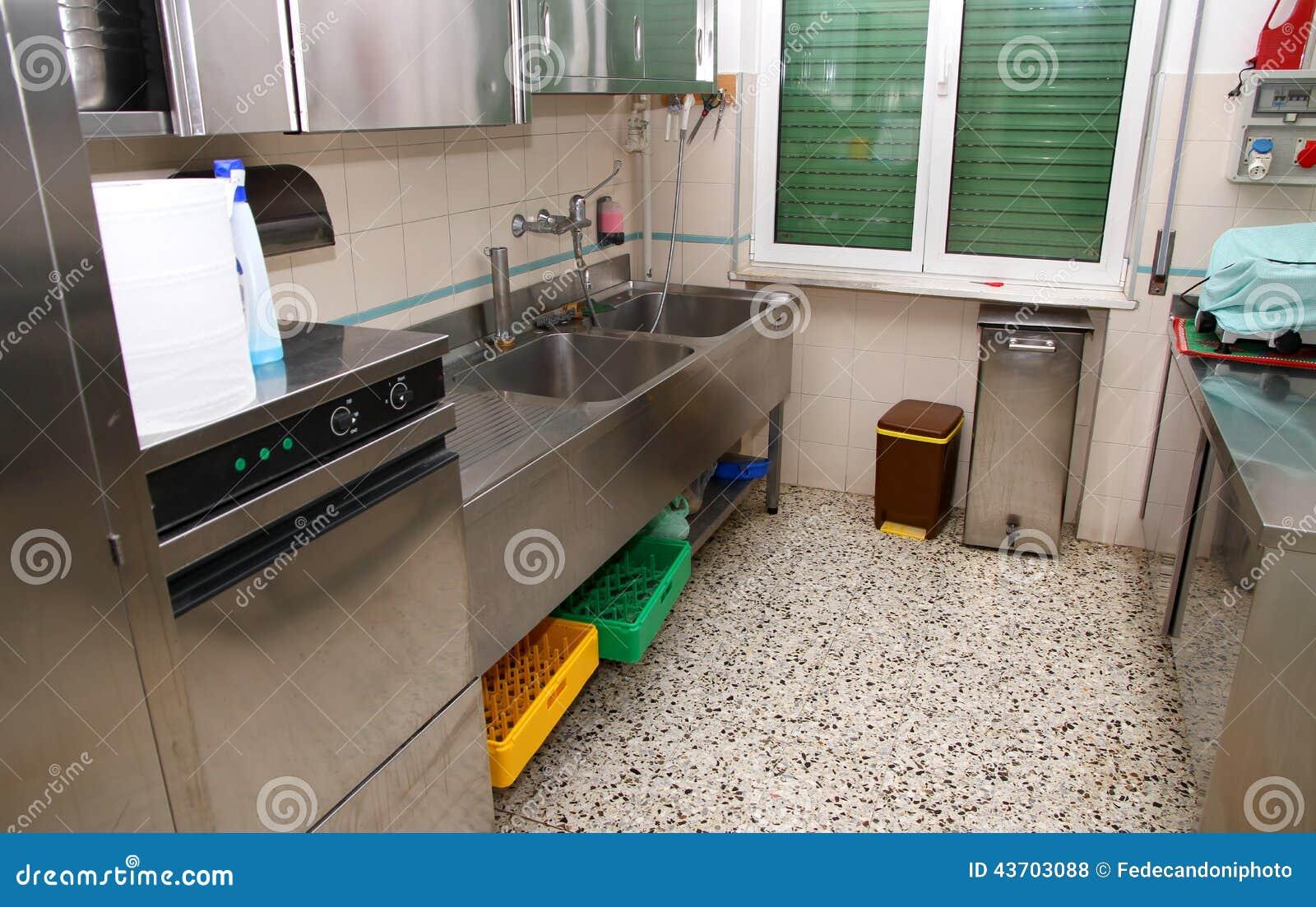 Empresa Industrial Da Cozinha Da Cantina Em Um Restaurante Foto De