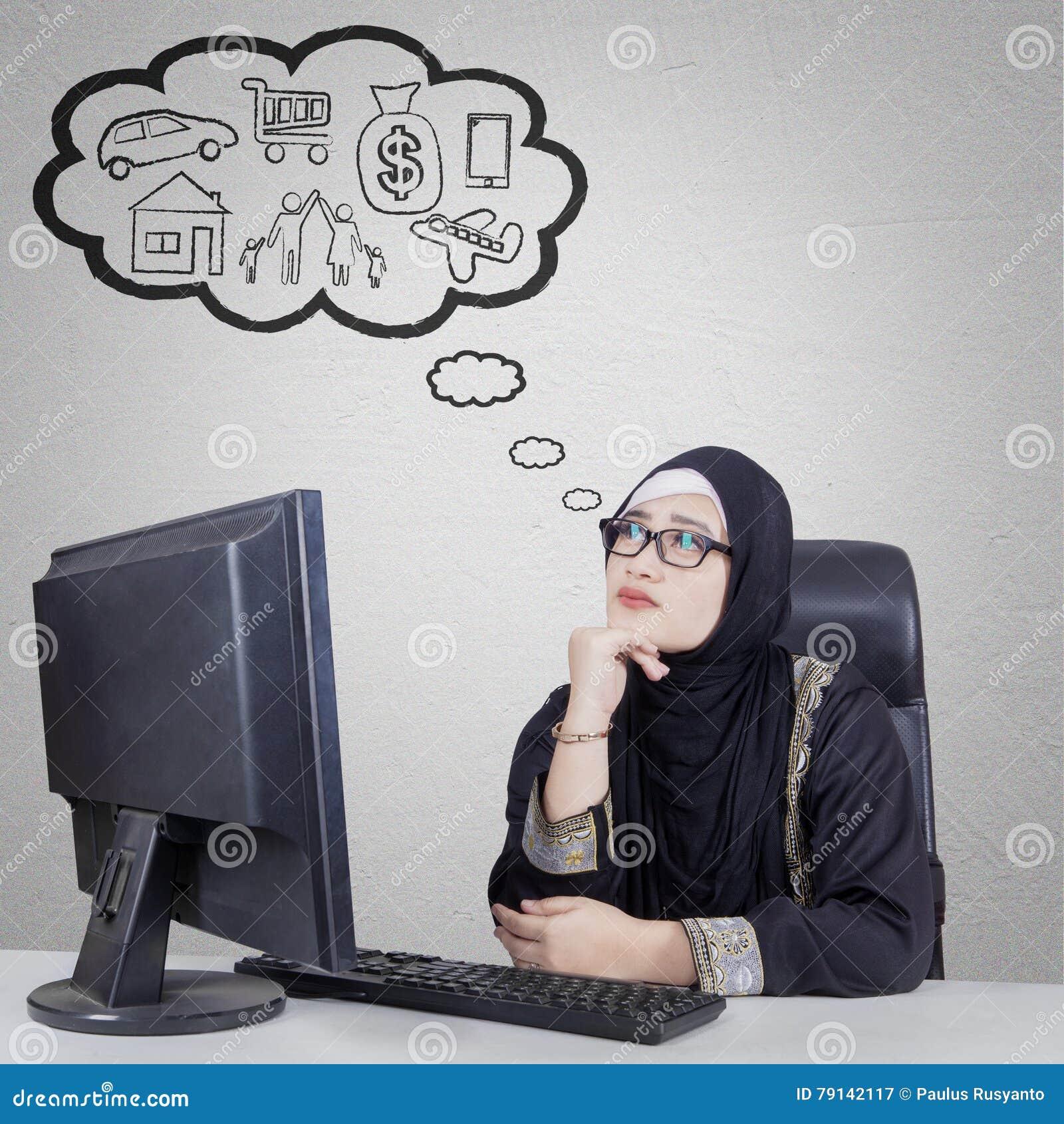 Empresaria árabe que piensa su sueño