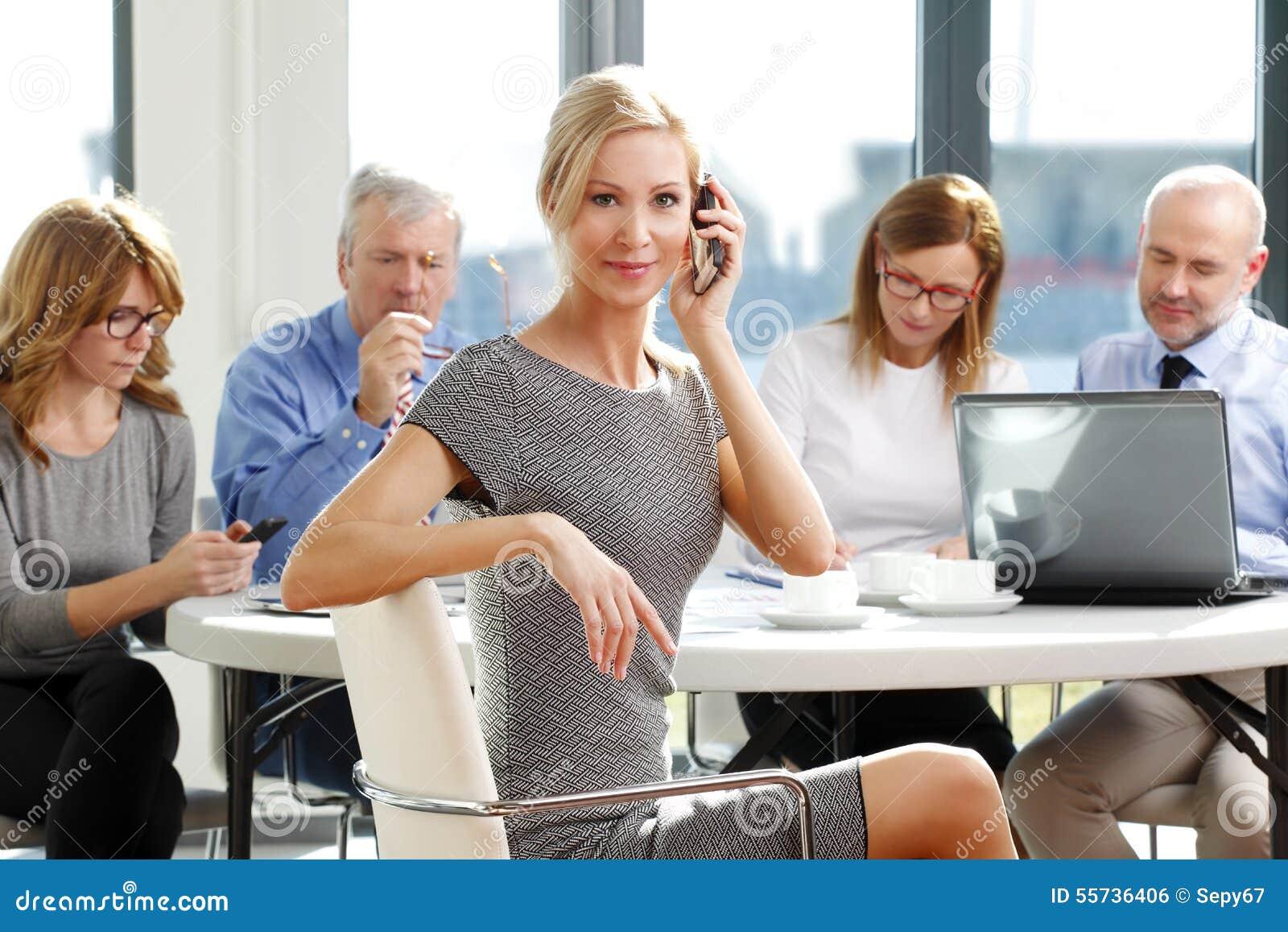Empresaria de Attrctive con los colegas