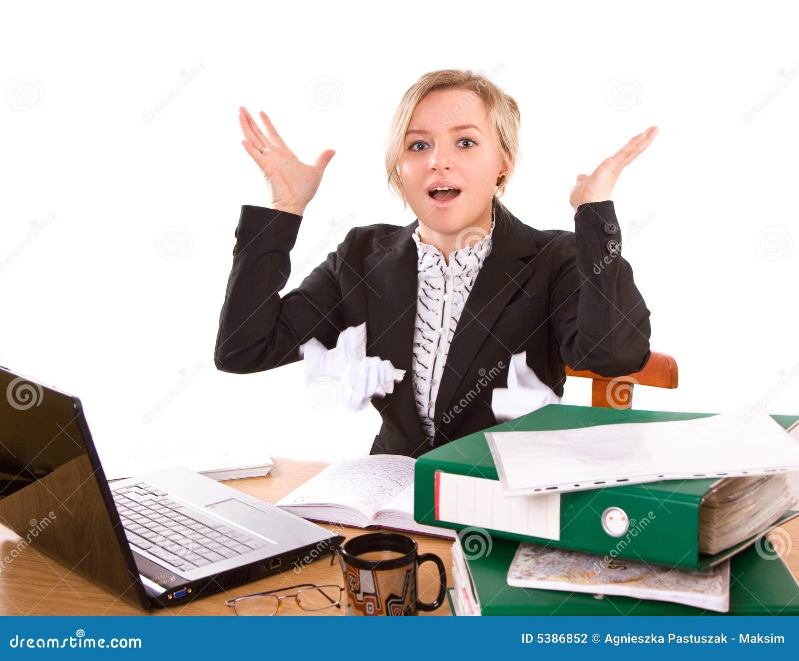 Empresaria en oficina