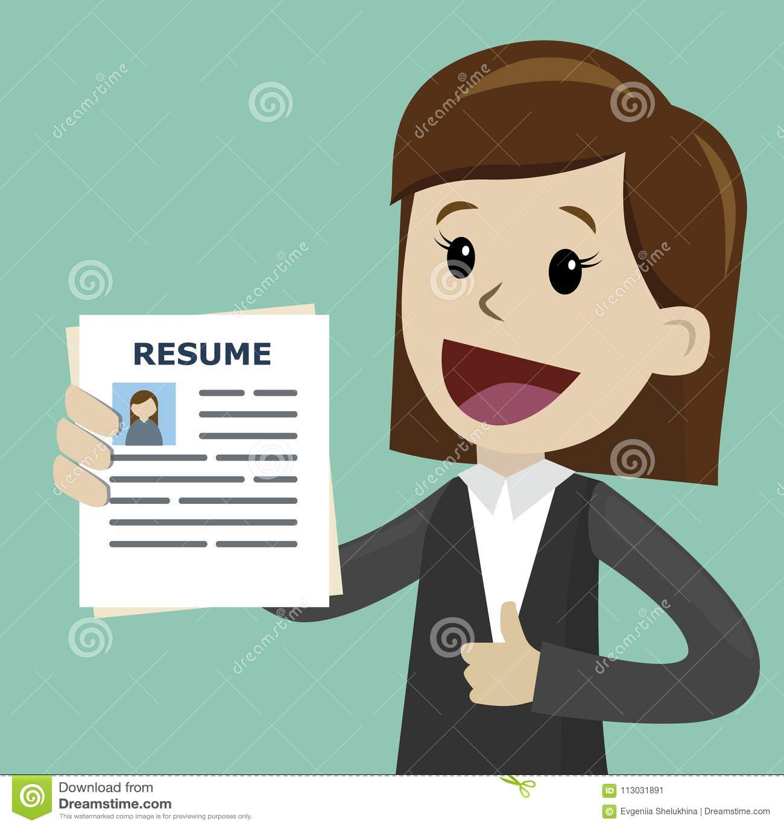 Empresaria o encargado en el curriculum vitae de la tenencia del traje para el alquiler del trabajo Hombre con halo sobre su cabe