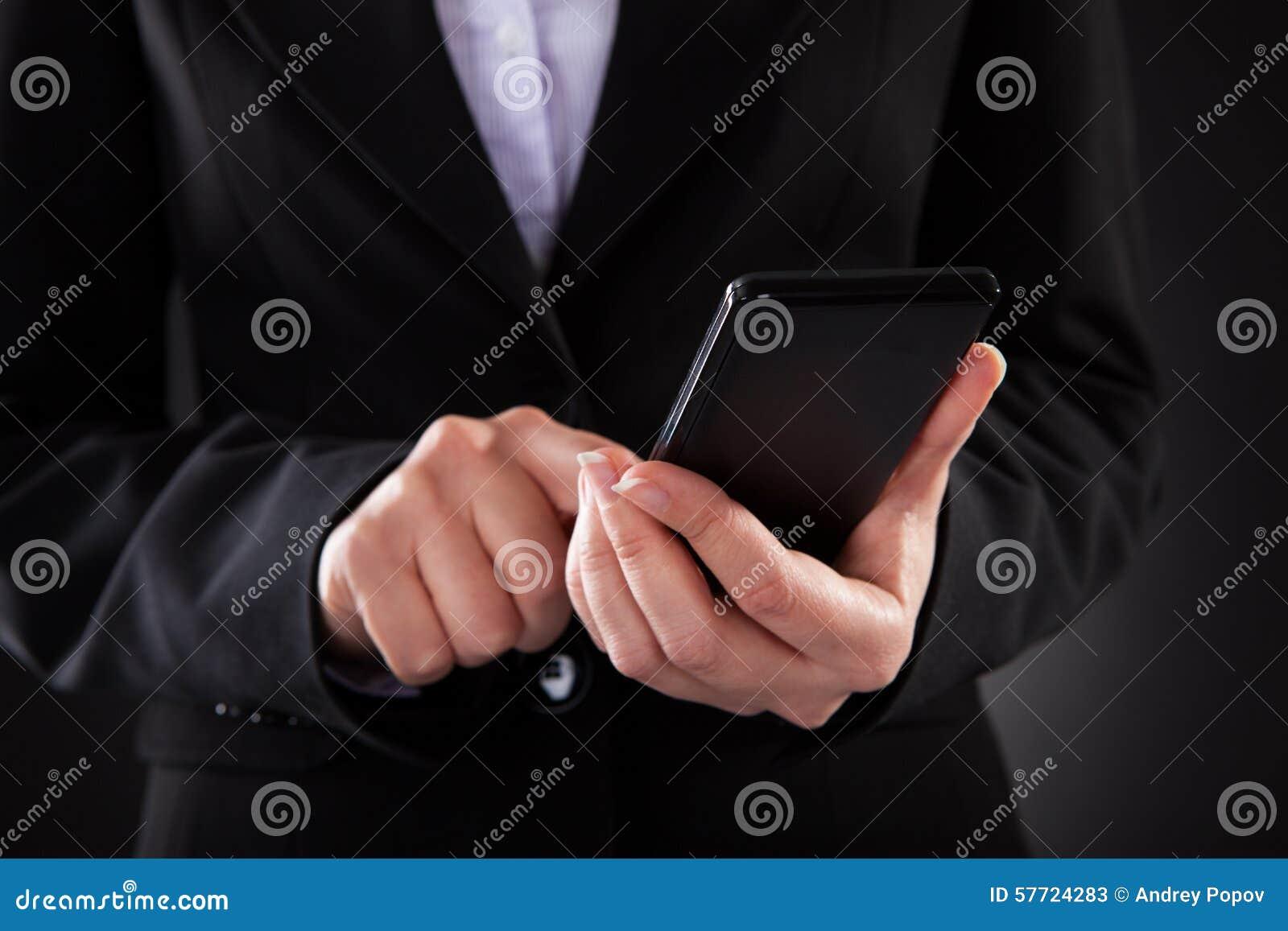 Empresario Holding Cellphone