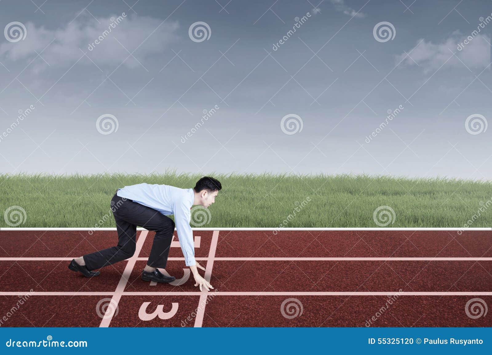 Empresario listo para competir con y para competir