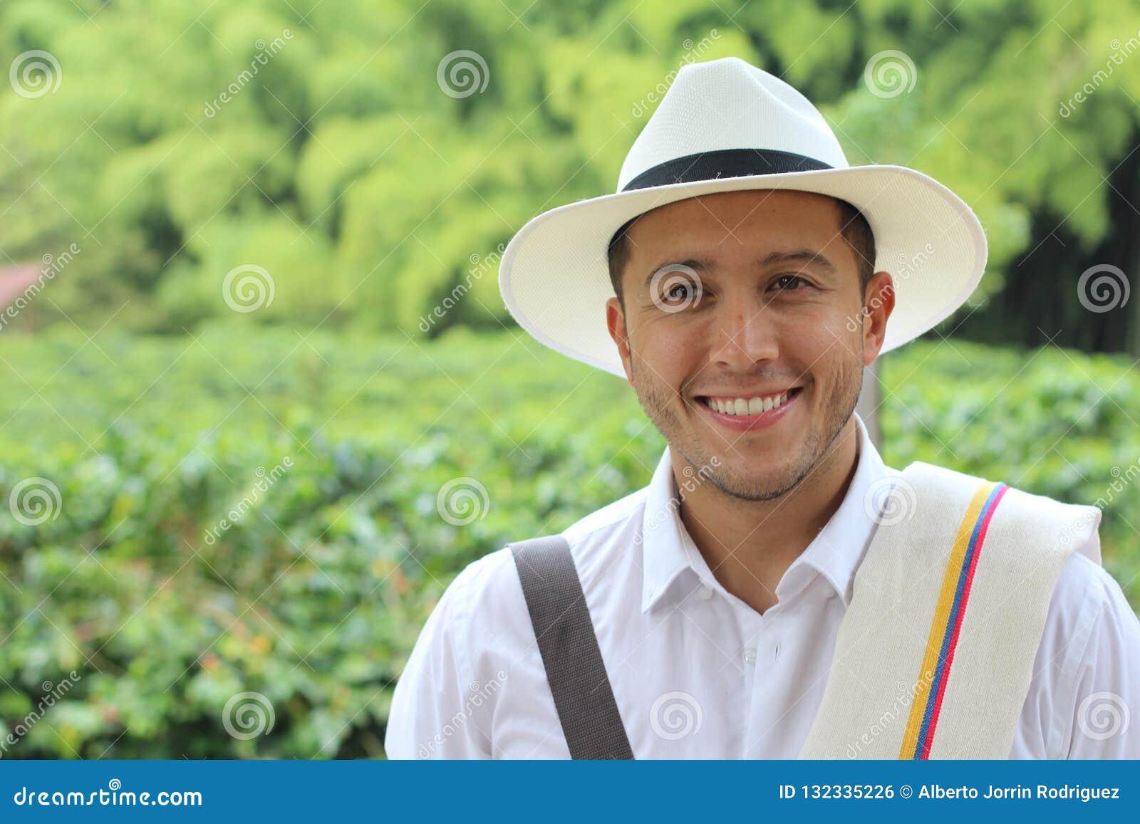 Empresario suramericano auténtico del café