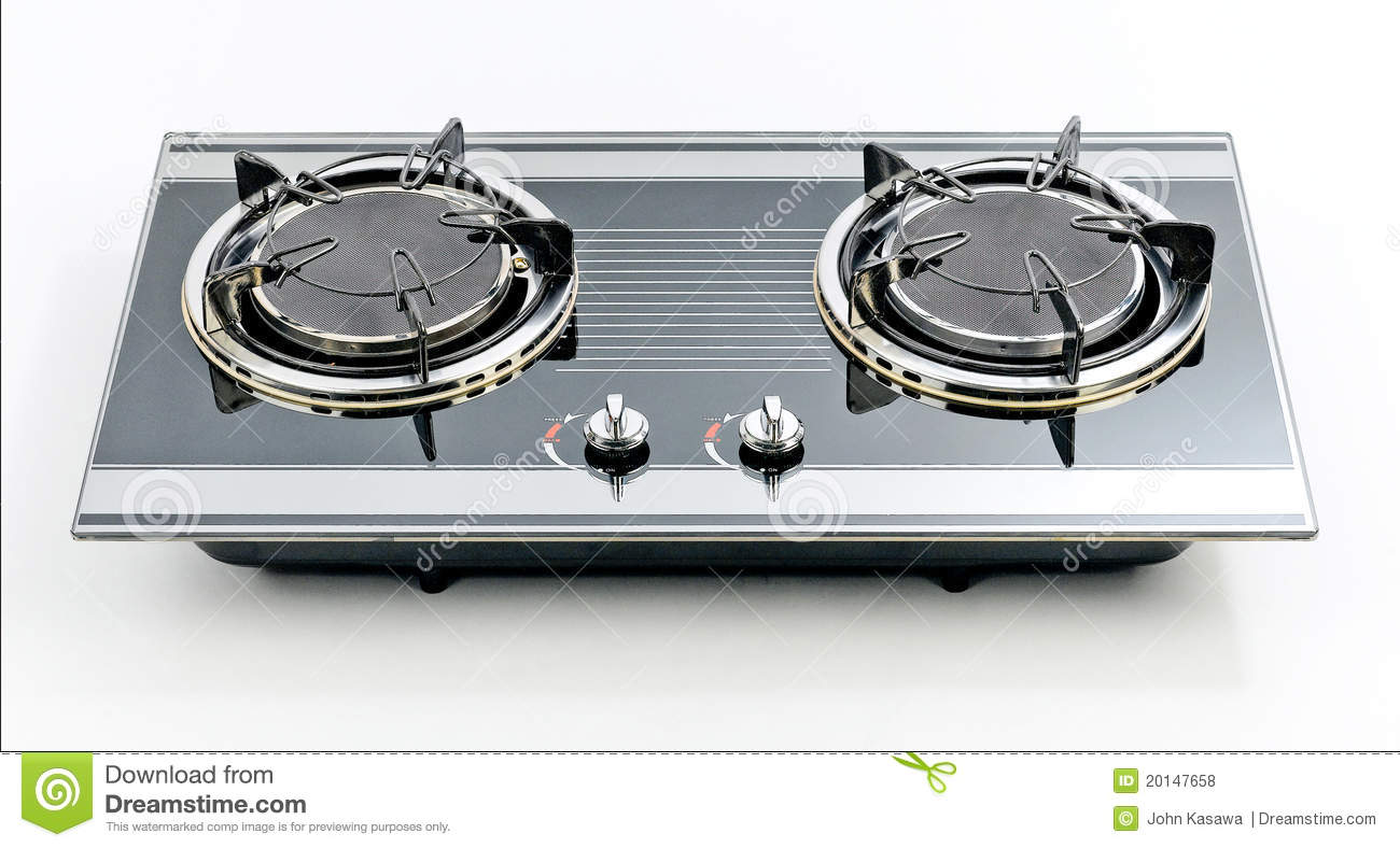 Empty 2 head gas stove stock photo. Image of moveable - 20147658