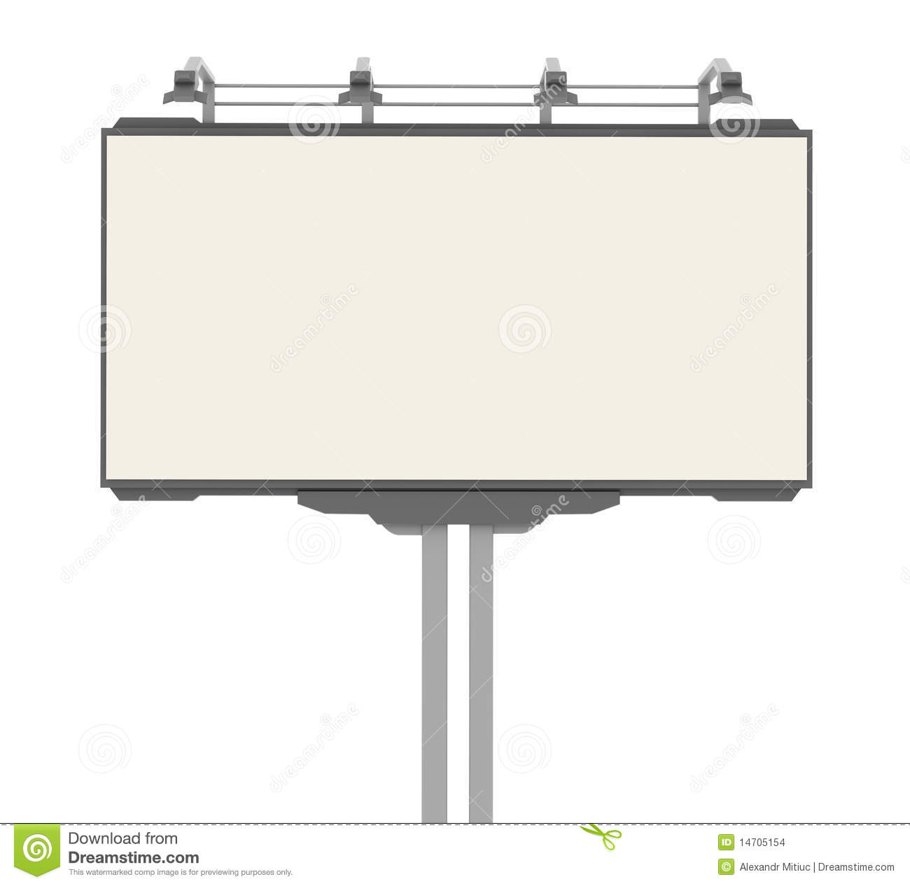 Empty Advertisement Hoarding Stock Images Image 14705154