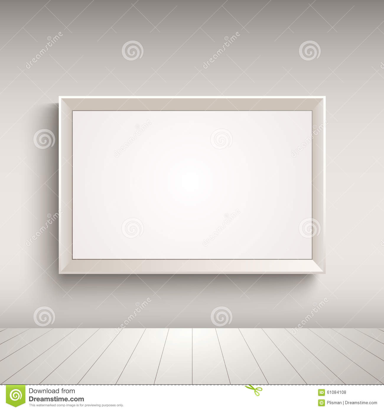 Empty Advertising Board On The Wall Template Stock Vector ...
