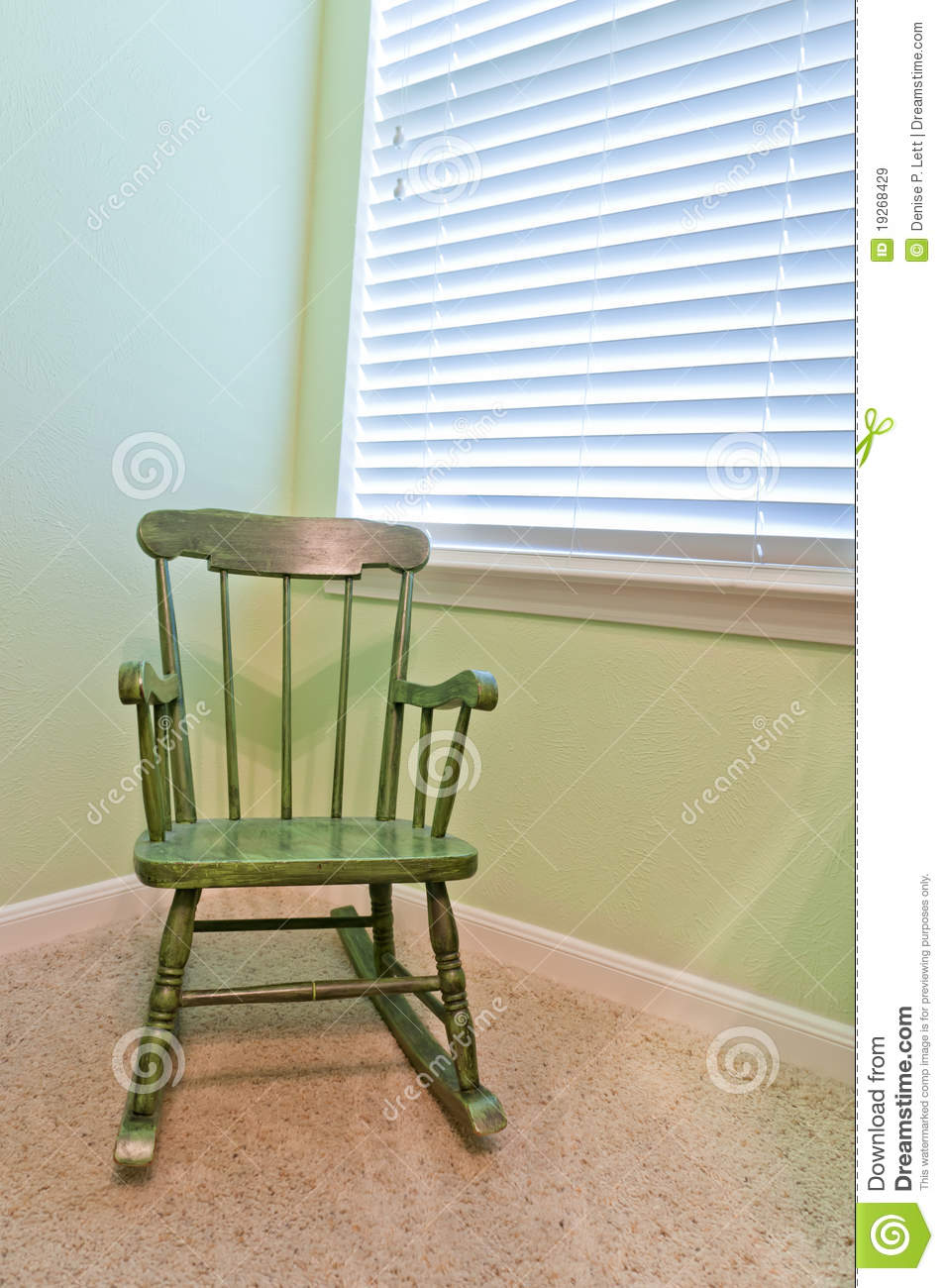 Empty Antique Child S Rocking Chair Royalty Free Stock