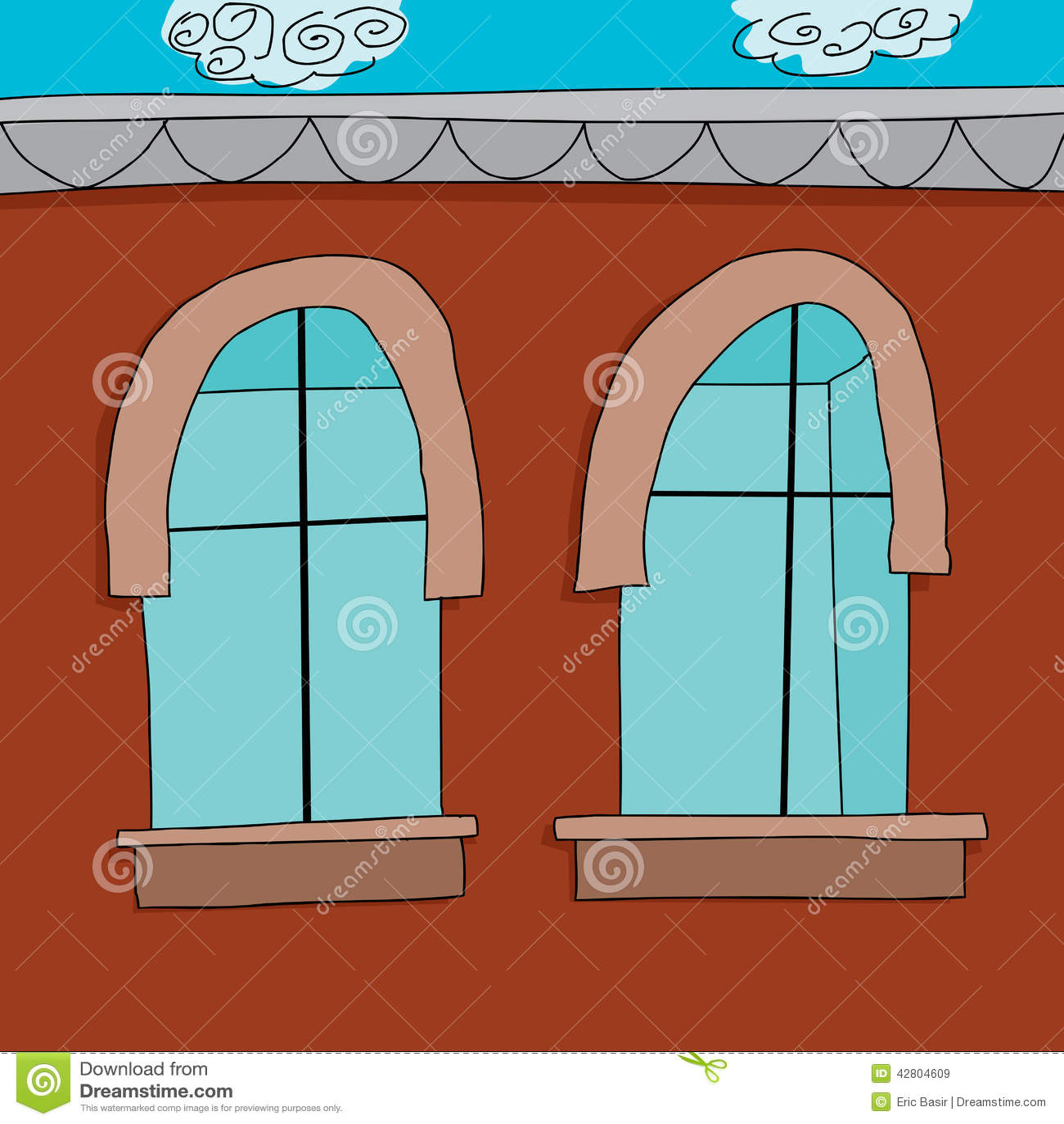 Empty Cupboard Cartoon: Empty Apartment Cartoon Stock Vector