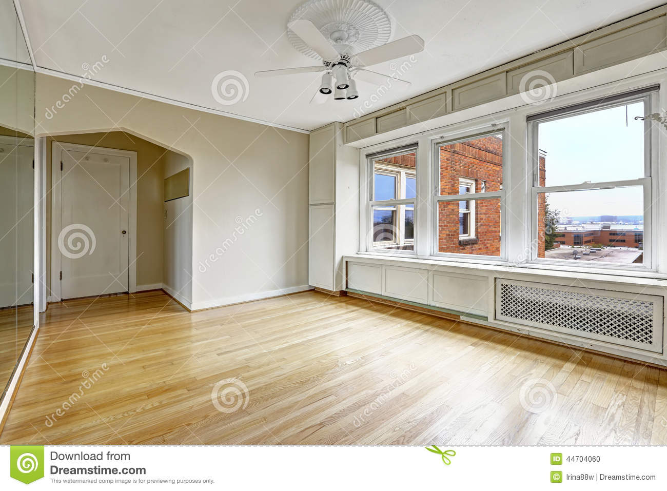 Empty Apartment Interior In Old Residential Building In Downtown Stock Photo