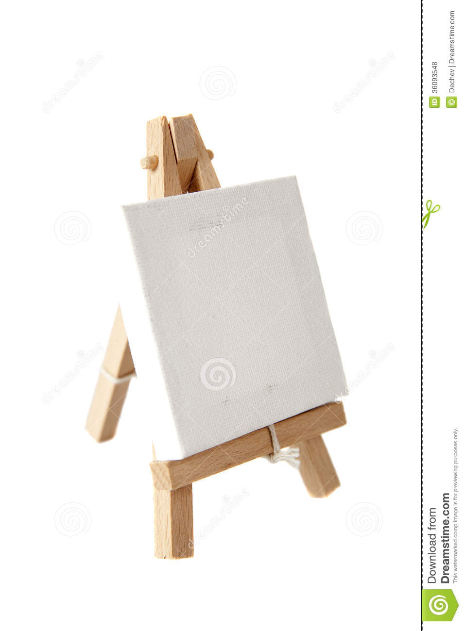 empty artists canvas on an easel stock photo image of canvas