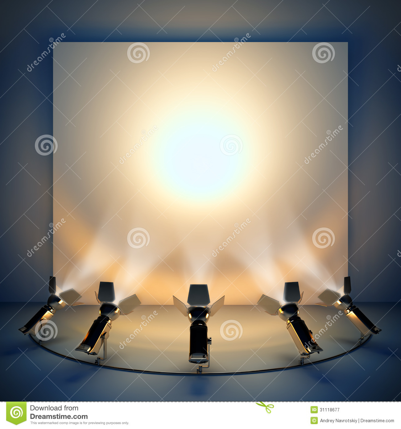 Empty background with stage spotlight royalty free stock photography