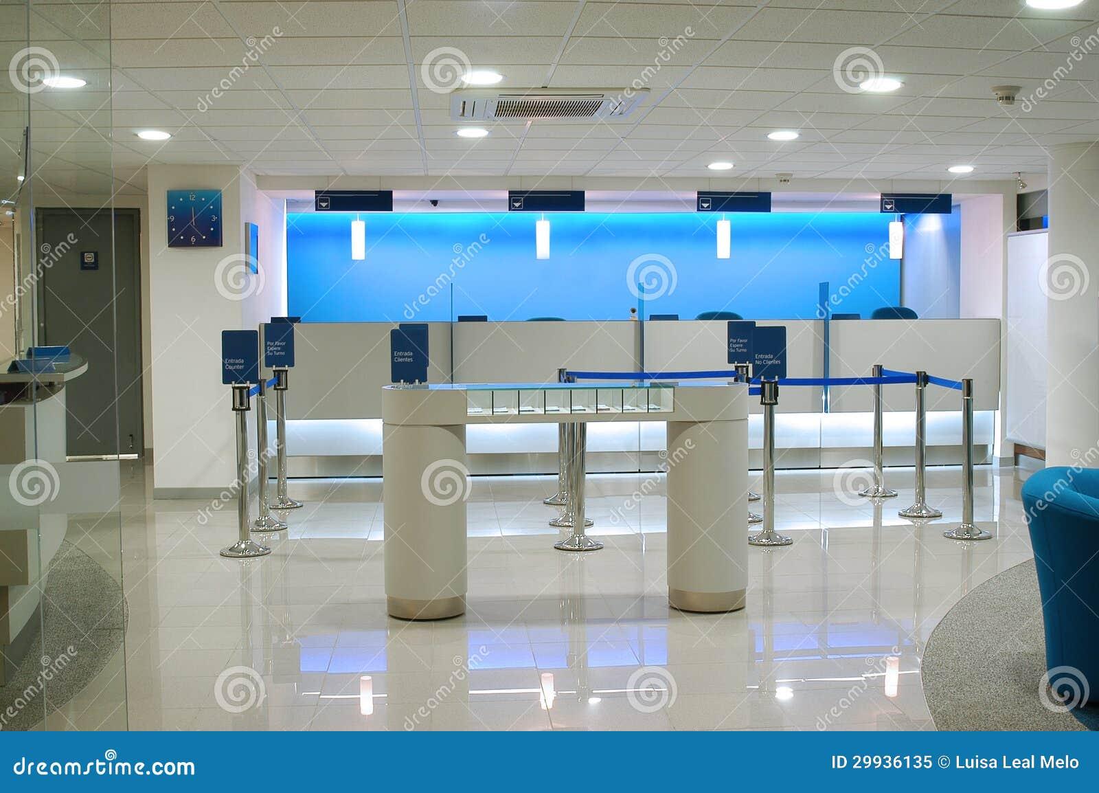 bank interior royalty free stock photo