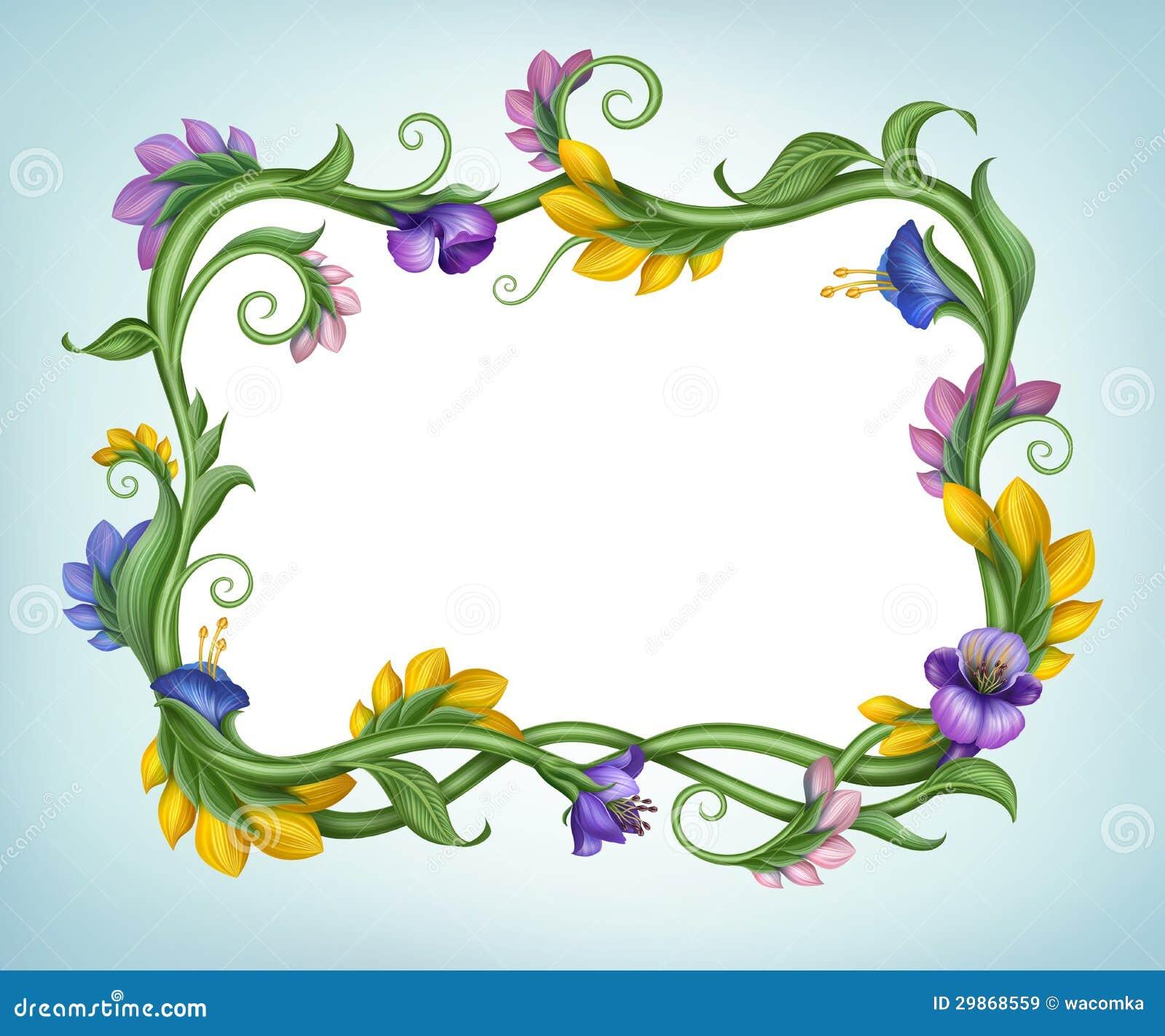 Beautiful spring flower banner frame stock illustration download beautiful spring flower banner frame stock illustration illustration of color bright 29868559 izmirmasajfo