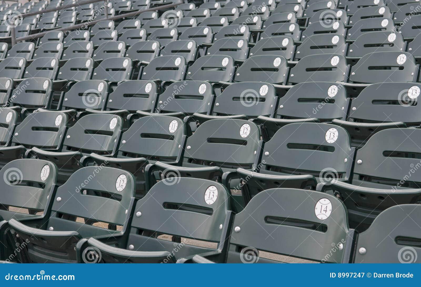 Empty Baseball Stadium Seats Stock Image Image Of Rows