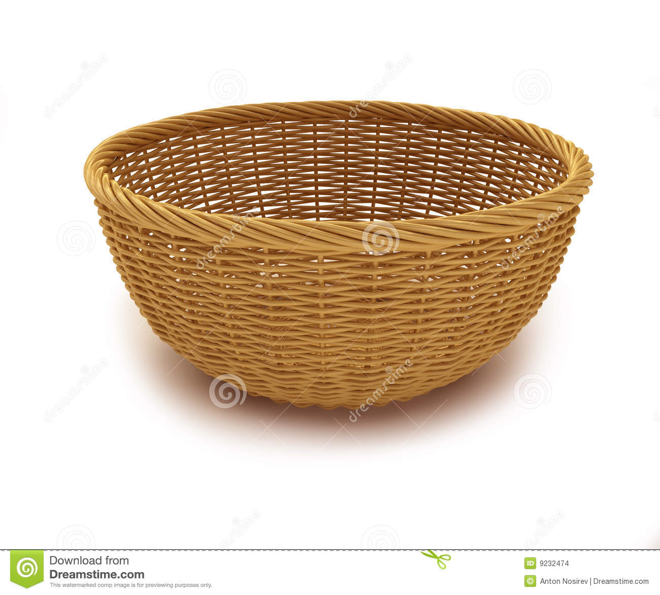 Empty Basket Stock Images - Image: 9232474