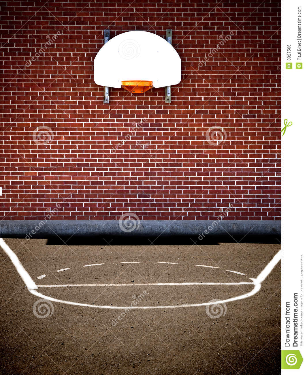 Royalty Free Stock Image  Empty basketball courtEmpty Indoor Basketball Court