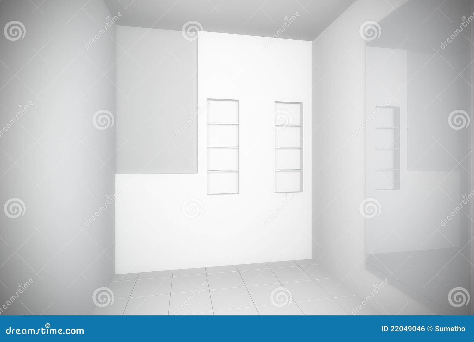 Empty Bathroom Interior With Tile Floor Royalty Free Stock