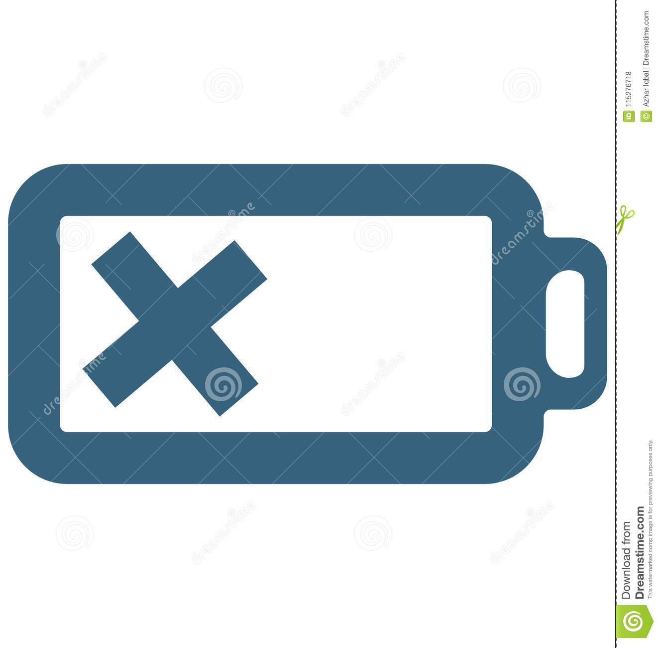 Empty Battery glyph Vector Icon special Signs and symbols