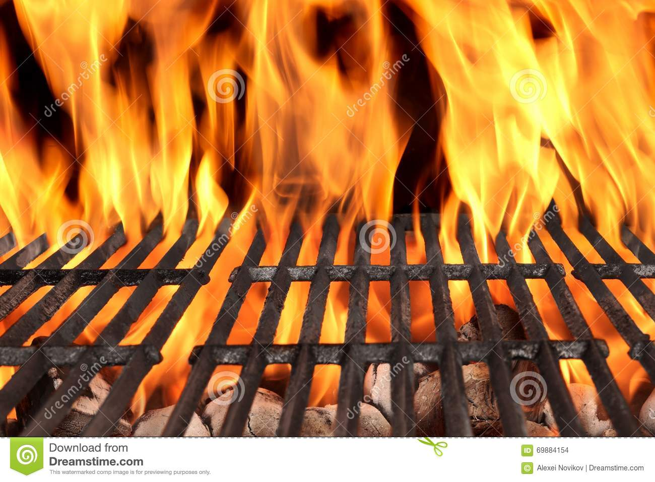 Hot Empty Charcoal BBQ Royalty-Free Stock Image