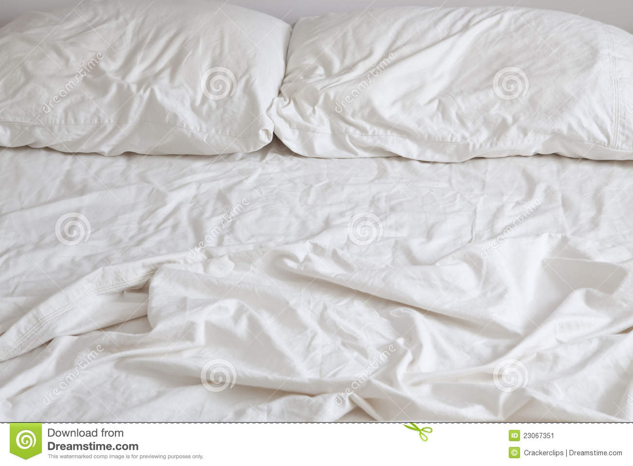 Empty Bed Stock Image Image 23067351