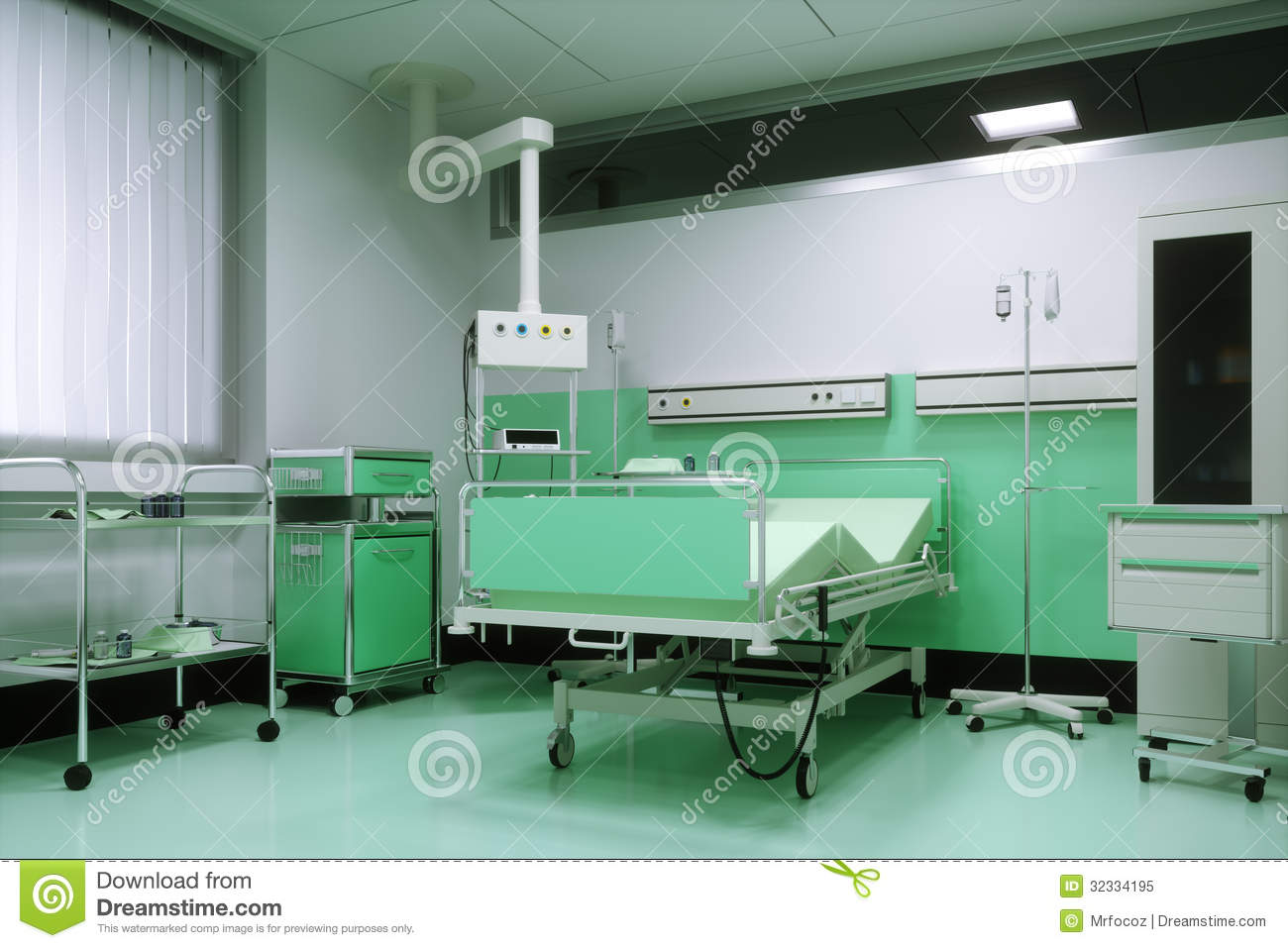 Empty Bed In A Hospital Room Royalty Free Stock Photo