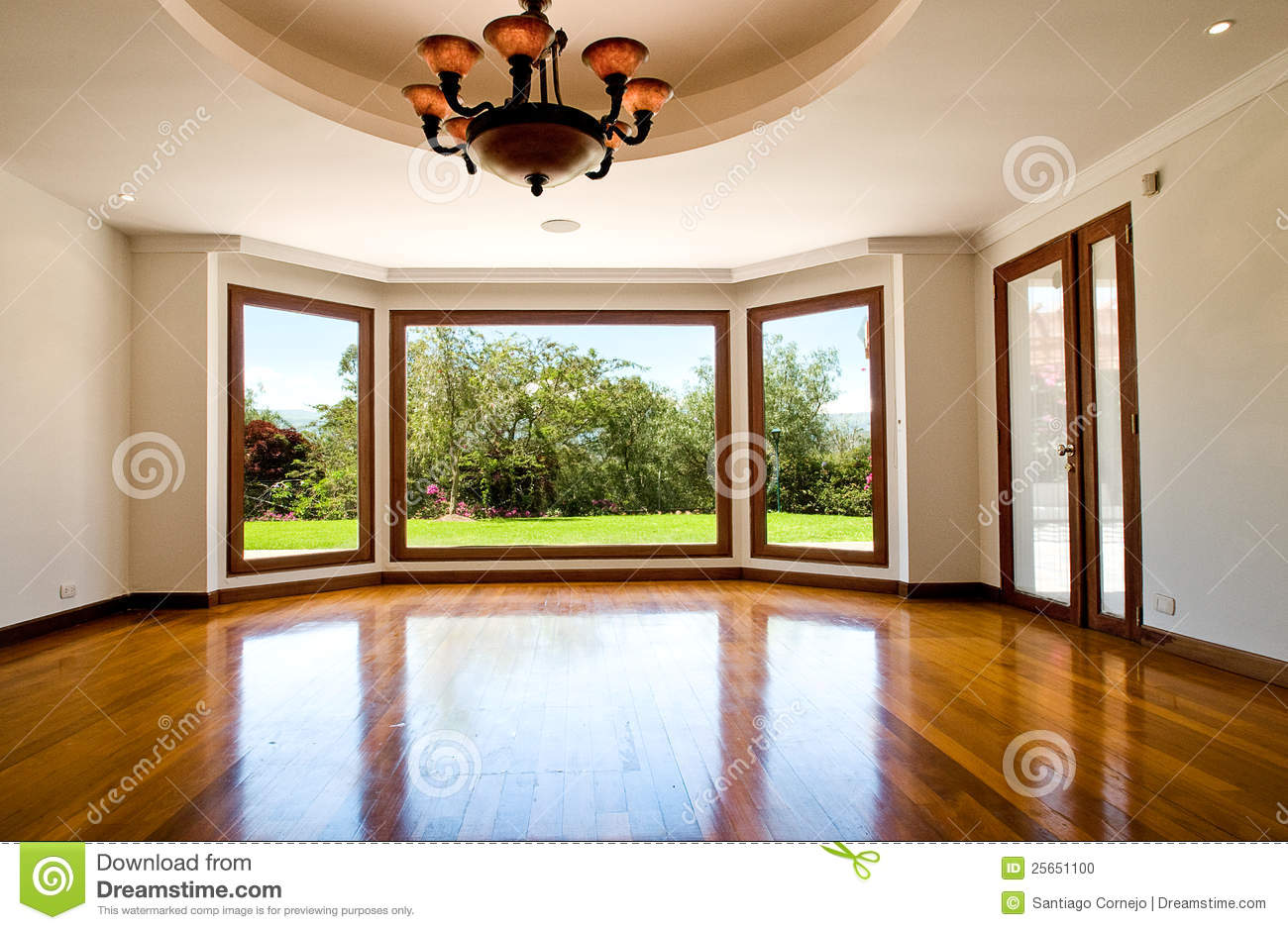 empty big living room stock photo - image: 25651100