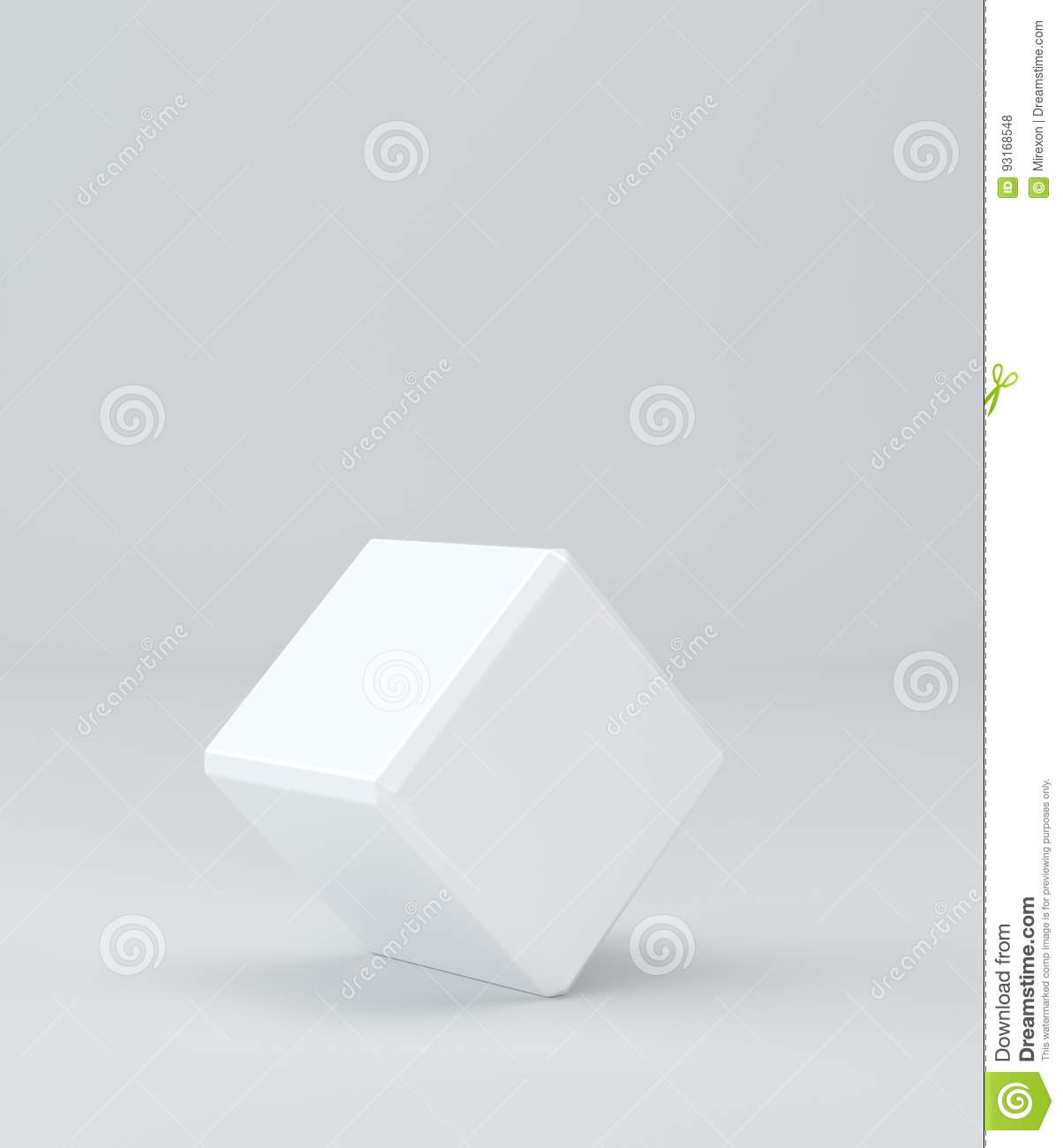 Empty blank cube box template on background 3d rendering stock royalty free stock photo buycottarizona Gallery