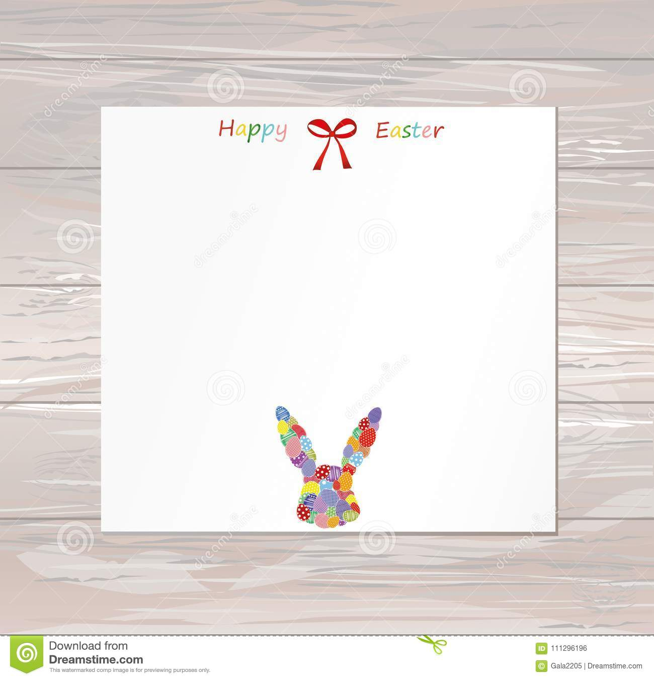 Empty Blank For Messages Or Greetings For Easter Eggs With A Pa