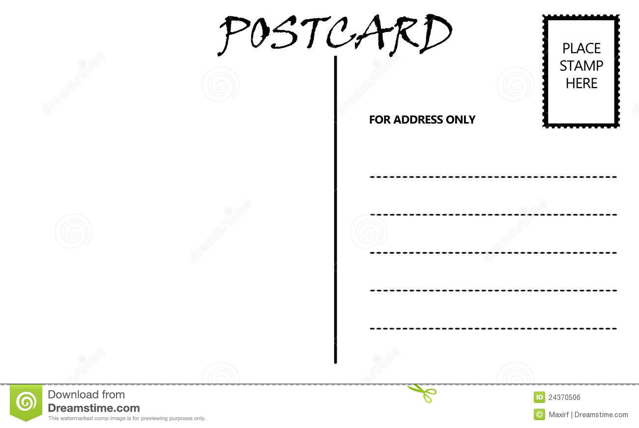 Empty Blank Postcard Template Royalty Free Stock Image - Image ...