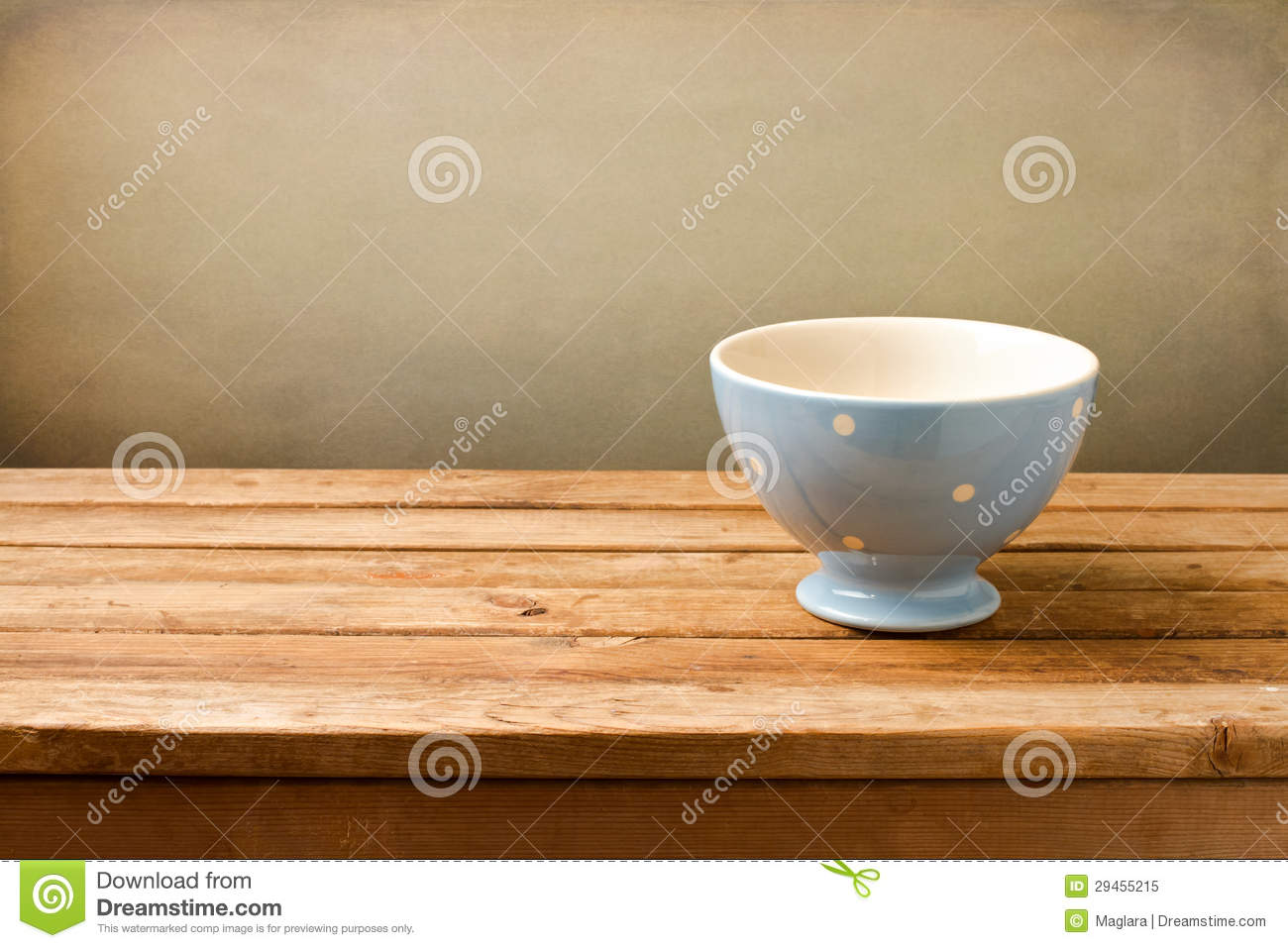 Superb img of Empty Blue Bowl On Wooden Table Royalty Free Stock Photo Image  with #431D04 color and 1300x957 pixels