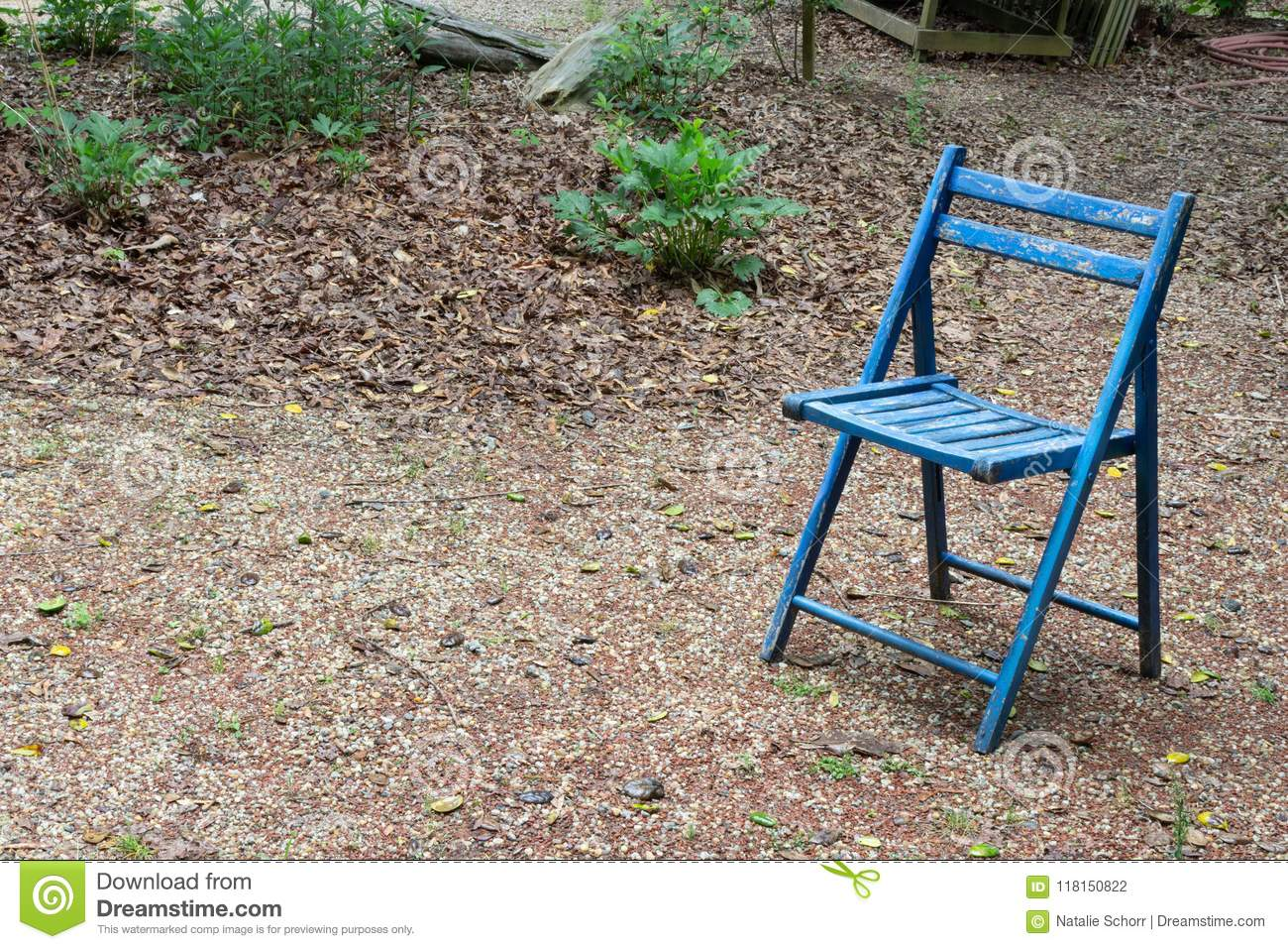 Prime Empty Blue Folding Chair Outdoors Copy Space Death Grief Ncnpc Chair Design For Home Ncnpcorg