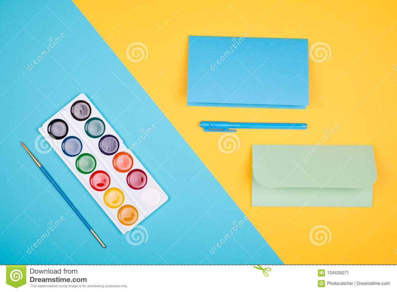 Empty Greeting Cards Stock Image Image Of Office Equipment 104435071