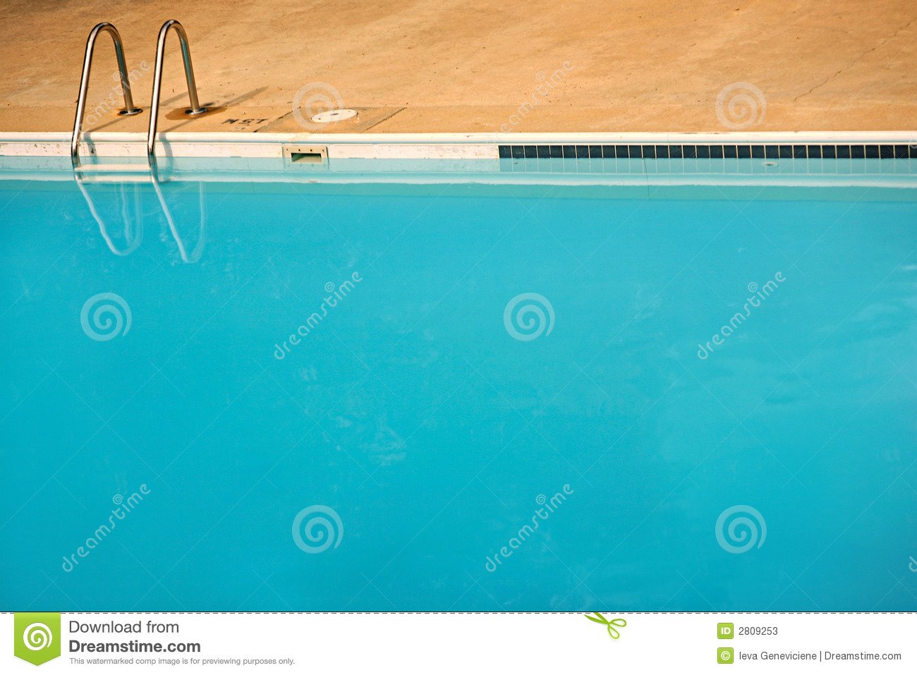 Empty blue swimming pool stock photos image 2809253 for Empty swimming pool