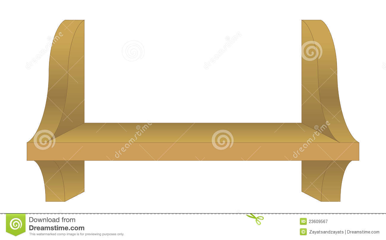 An empty book shelf stock vector. Image of illustration ...