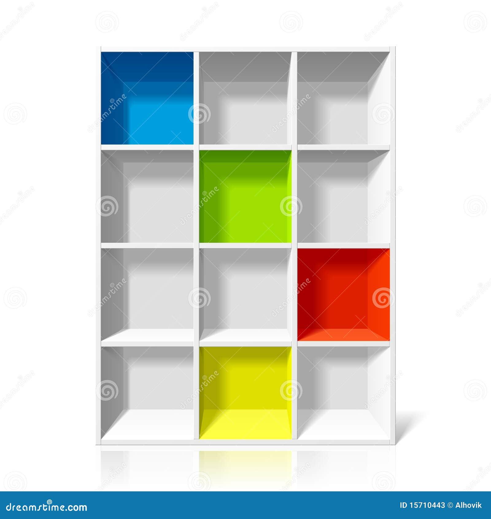Empty Bookshelf Empty bookshelf