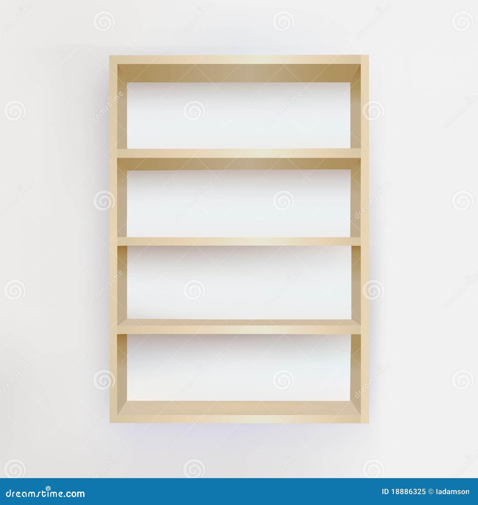 Empty Bookshelf Stock Vector Illustration Of Light Blank