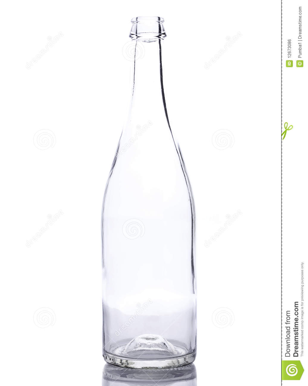 Empty Bottle Royalty Free Stock Image - Image: 12673086