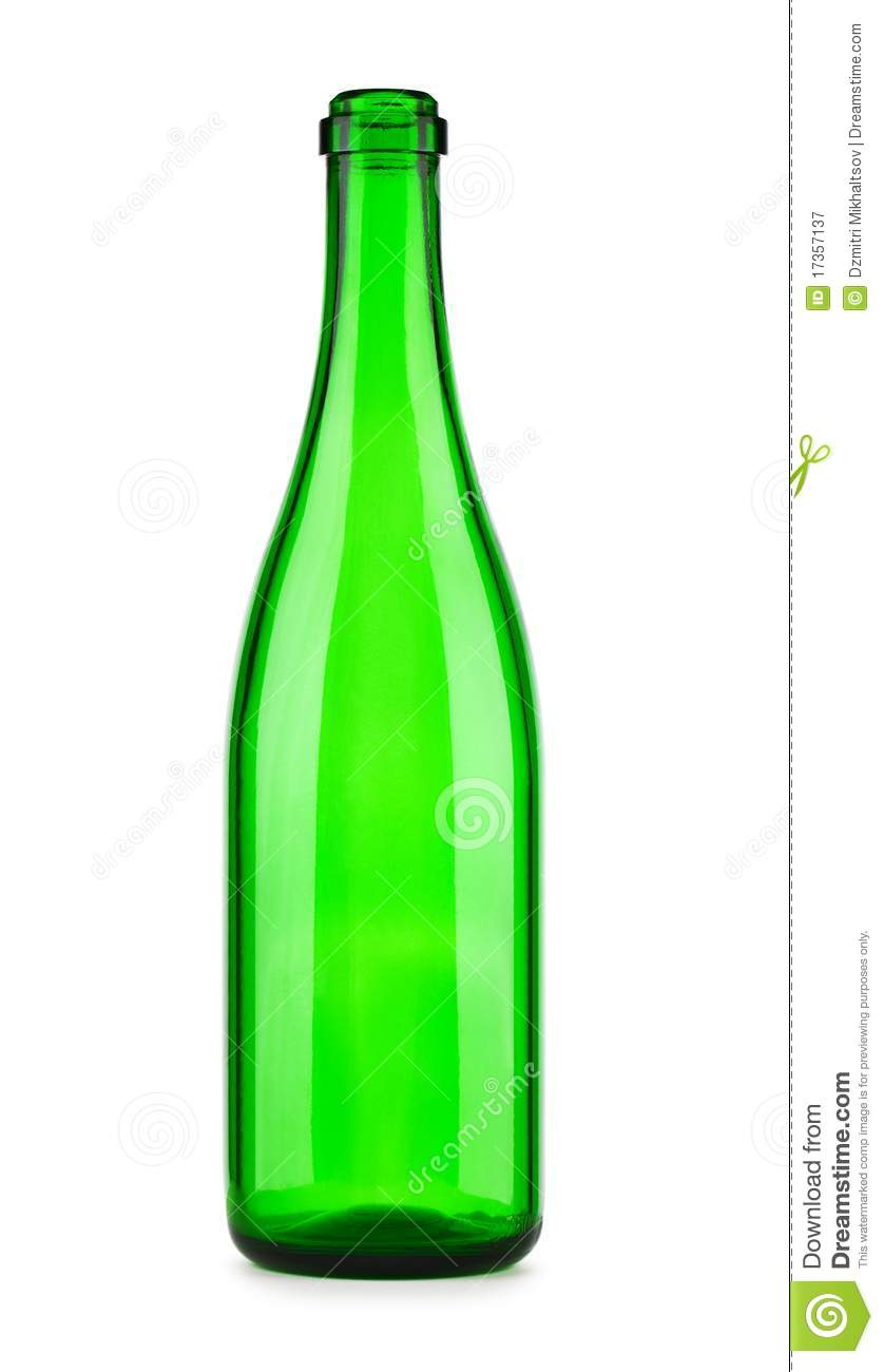 empty bottle of champagne isolated royalty free stock photography